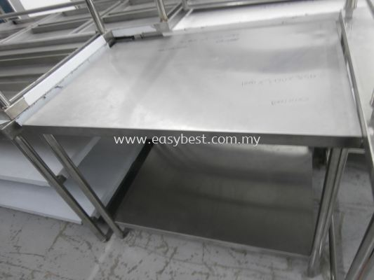 "S/S 2 TIER WORKTABLE  DIM:40""X28""X33"""