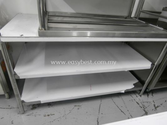 "S/S 3 TIER WORKTABLE  DIM:60""X30""X33"""