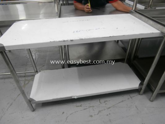 "S/S 2 TIER WORKTABLE  DIM:53""X22""X33"""
