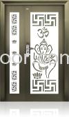 AP4-W65 5ft x 7ft Indian Blessing Word Art Design Security Door