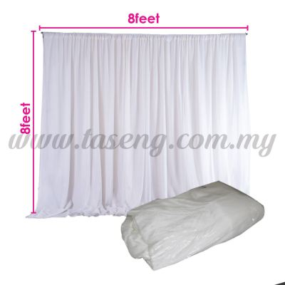 White Satin Fabric *2.5mx2.5m (FA-ST25-W)