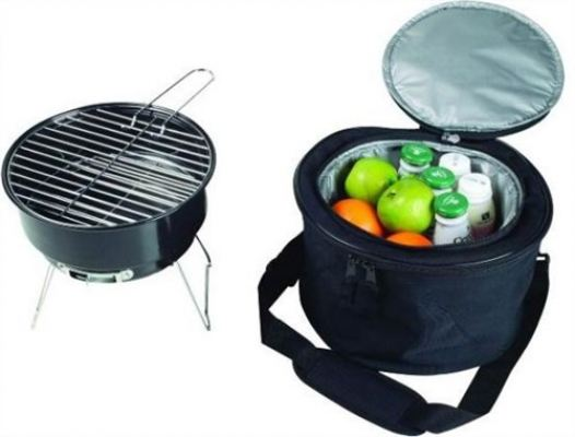 Liberty Portable Mini BBQ Griller & Cooler Bag (A-R12A) - Charcoal BBQ Grill