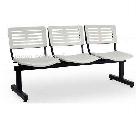 AEXIS-3 POLYPROPYLENE 3 SEATER LINK CHAIR W/O ARMREST & T-SHAPE METAL BASE ACL 68-3