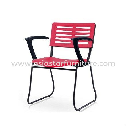 AEXIS-3 POLYPROPYLENE CHAIR C/W ARMREST & SQUARE METAL BASE - folding/training chair - computer chair changkat semantan | folding/training chair - computer chair pusat bandar damansara | folding/training chair - computer chair taman desa keramat