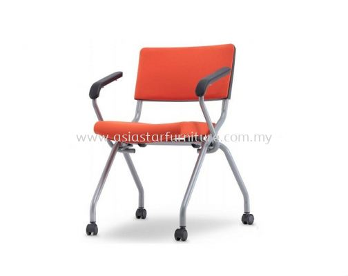 AEXIS 2PA FOLDING POLYPROPYLENE CHAIR C/W CASTOR & ARMREST