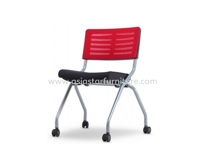 AEXIS 2M FOLDING MESH CHAIR C/W CASTOR