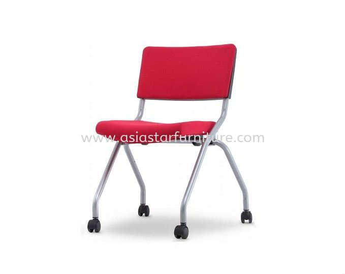 AEXIS 2P FOLDING POLYPROPYLENE CHAIR C/W CASTOR