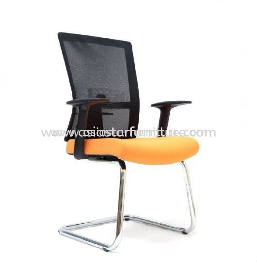 EXOTIC VISITOR MESH OFFICE CHAIR WITH CHROME BASE-mesh office chair sungai way | mesh office chair ara damansara | mesh office chair taman connaught