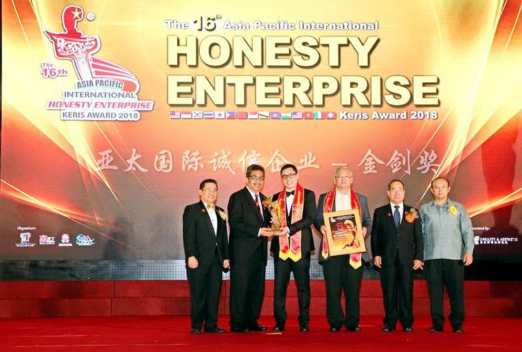16th Asia Pacific International Honesty Enterprise - Keris Award 2018