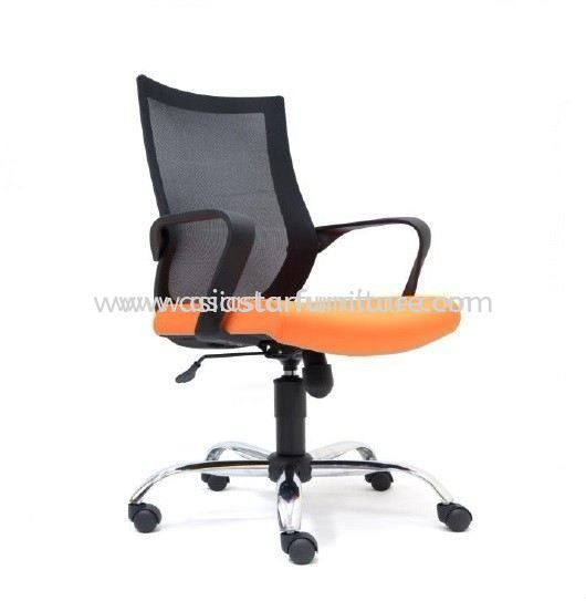 OWER LOW BACK MESH OFFICE CHAIR WITH CHROME BASE -mesh office chair taman desa | mesh office chair taman oug | mesh office chair taman maluri