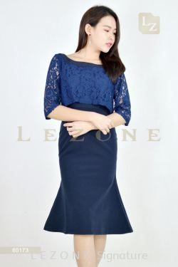 60173 LACE FISH CUT DRESS【2 FOR RM149】