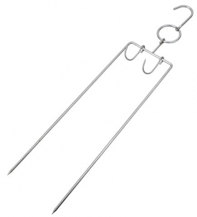 Steel Pork Fork with Hook (100383)