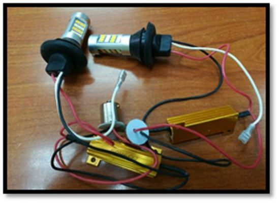 LED DAYLIGHT BULB DRL TURN LIGHT 1141 WHITE/YELLOW(S/N:002548)