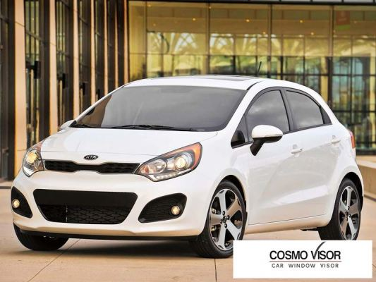 KIA RIO / PRIDE / K2 HATCHBACK 12Y-17Y (MEDIUM 4��) DOOR VISOR / WINDOW VENT VISOR DEFLECTOR