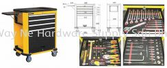 STANLEY Roller Cabinet, Model:99-069 + Accessories (135 pcs) + Foam Cut SKU# STMT74157-8 Stanley