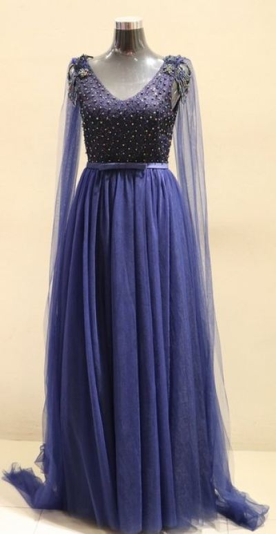 Dinner Gown (Long Dinner Dress Blue 006)