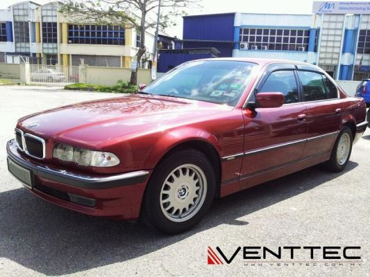 BMW 7-SERIES E38 94Y-01Y (SHORT WHEEL BASE) = VENTTEC DOOR VISOR