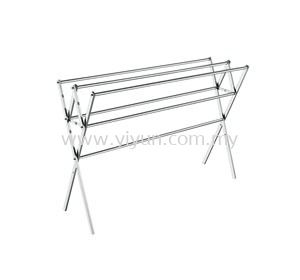 Foldable 3 Bar Steel Tower Clothe Hanger