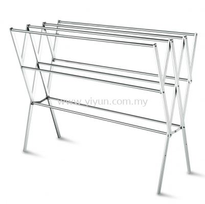 Foldable 4 Bar Steel Tower Clothe Hanger