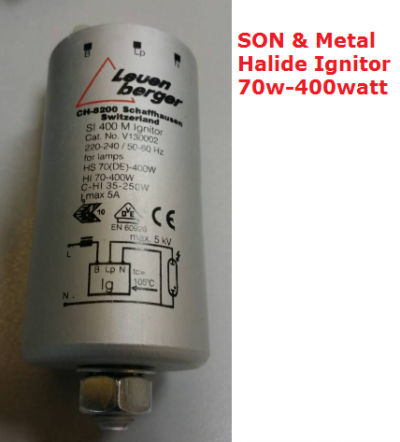 Leven berger SI400 M IGNITOR - FOR SON & METAL HALIDE LAMP