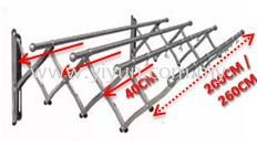 4 Bar Extendable Retractable Steel Clothe Hanger