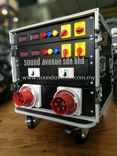 Dual AC240V/125A Inlet Power Distribution Box