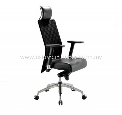 WEAVY HIGH BACK CHAIR WITH ALUMINIUM ROCKET DIE-CAST BASE ACL 1188