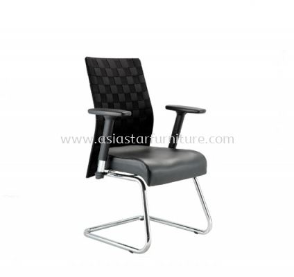WEAVY VISITOR CHAIR WITH ALUMINIUM ROCKET DIE-CAST BASE ACL 1166