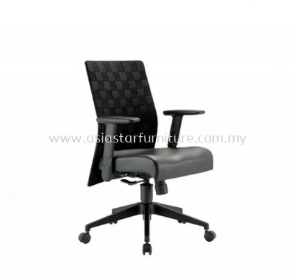 WEAVY LOW BACK CHAIR WITH NYLON ROCKET BASE ACL 2277