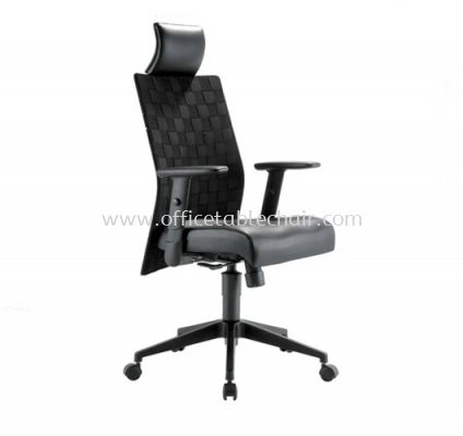 WEAVY EXECUTIVE HIGH BACK CHAIR WITH NYLON ROCKET BASE ACL 2288