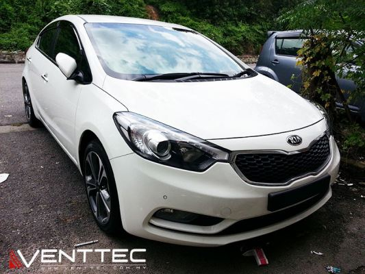 KIA CERATO K3 / FORTE SEDAN 2013-ABOVE = VENTTEC DOOR VISOR