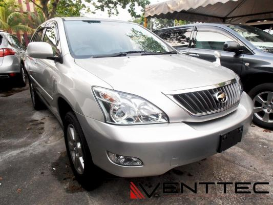 TOYOTA HARRIER (XU 30) 03Y-13Y VENTTEC DOOR VISOR / WINDOW VENT VISOR DEFLECTOR