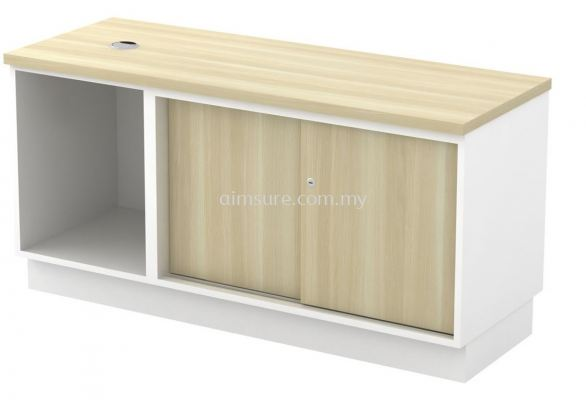 Side Cabinet with Open shelf + Sliding Door Cabinet (AIM1206)