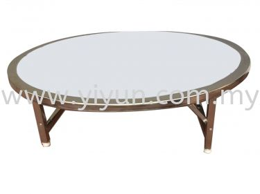 Foldable Round Swing Coffee Table