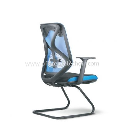 RAINBOW 3A VISITOR MESH BACK CHAIR WITH EPOXY BLACK CANTILEVER BASE
