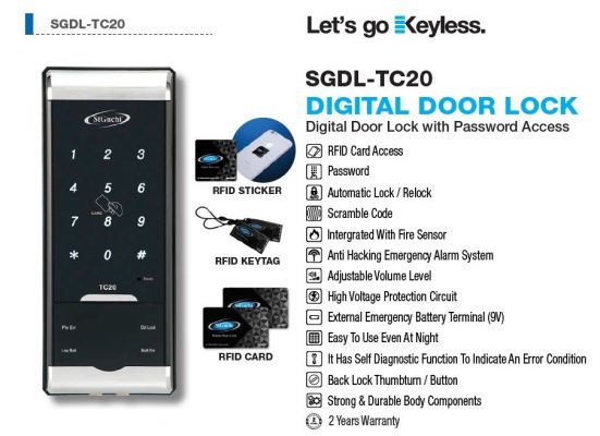 SGDL-TC20 Digital Door Lock
