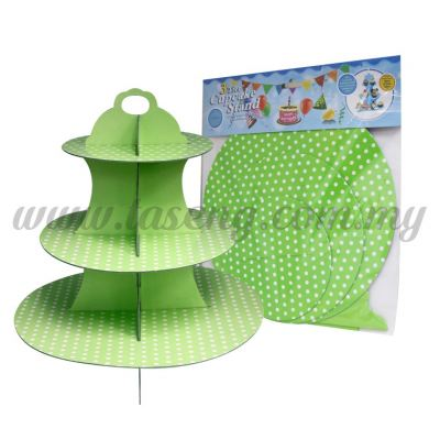 Cup Cake Stand *POLKA DOT LIME GREEN (P-CS-PDLG)