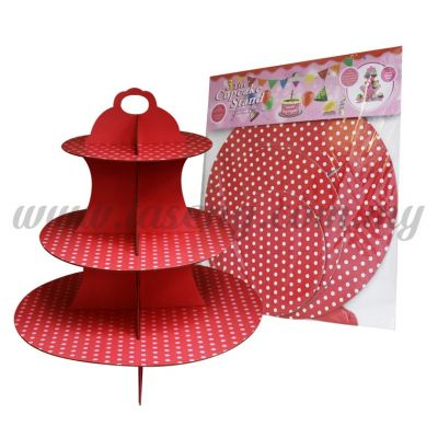 Cup Cake Stand *POLKA DOT RED (P-CS-PDR)