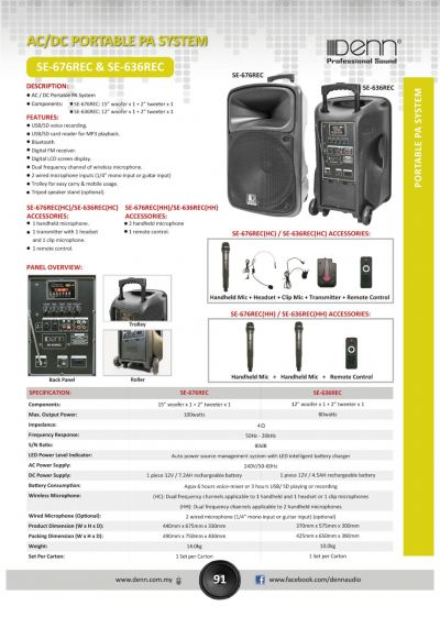 ACDC Portable PA System