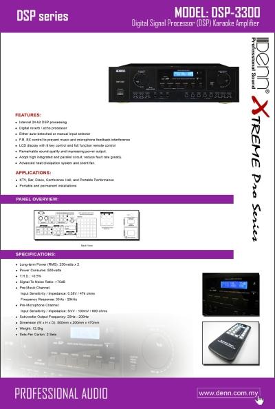 Professional Karaoke Amplifier