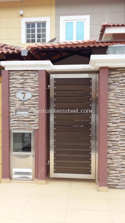 Stainless Steel with Aluminium Wood Side Door