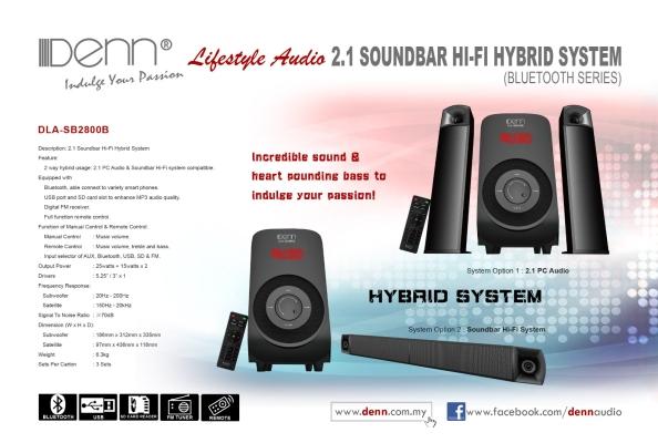 2.1 Soundbar Hi-Fi Hybrid System