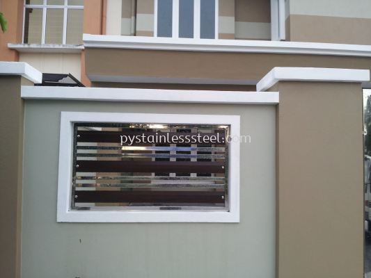 Stainless Steel with Aluminium Wood Fencing Door