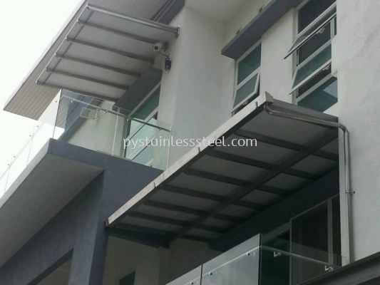 Stainless Steel with Alumebond Canopy