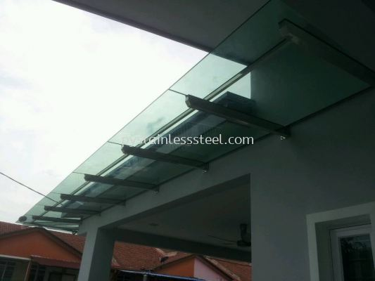 Stainless Steel with Glass Canopy