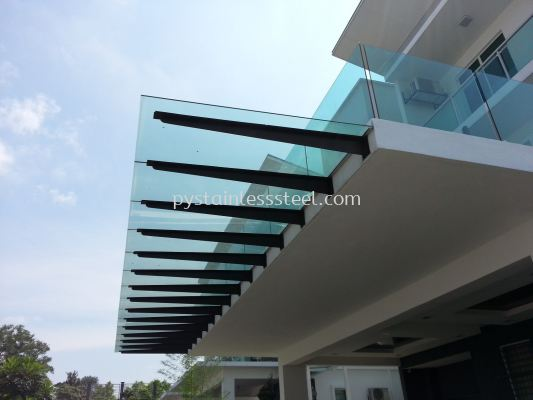 I-Beam with Glass Canopy