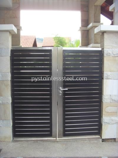 Stainless Steel with Aluminium Wood Swing Door