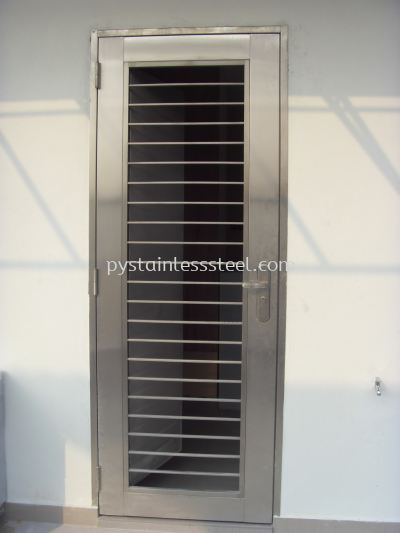 Stainless Steel Safety Door (2 in 1)