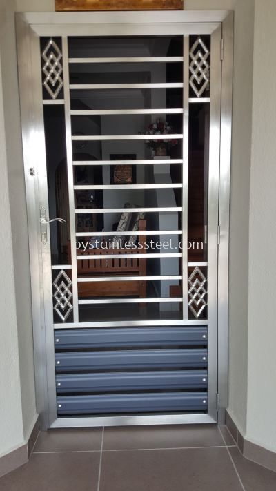 Stainless Steel with Aluminium Wood Door Grille