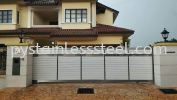 Stainless Steel Sliding Gate with Aluminium Wood Stainless Steel Sliding Gate with Aluminium Wood Stainless Steel Gate